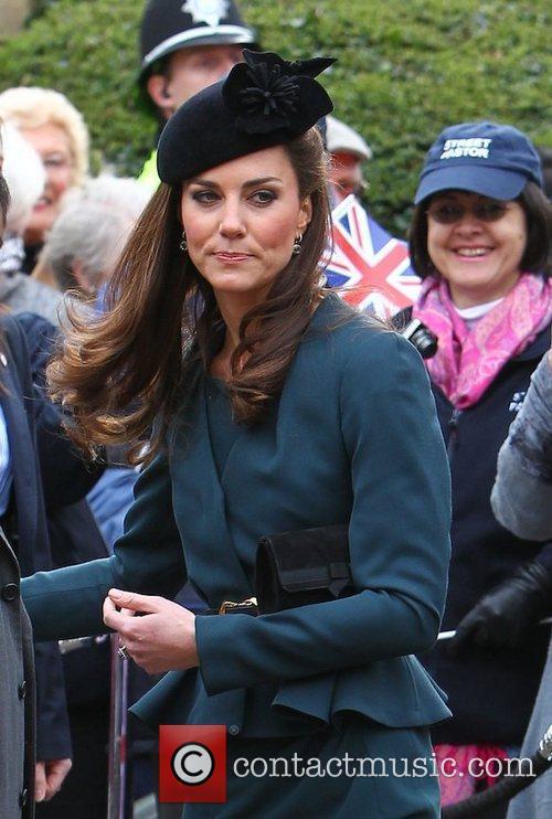 The Duchess of Cambridge, aka Kate Middleton arrives...
