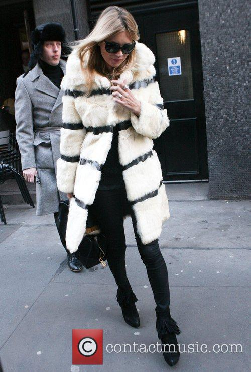 Kate Moss has lunch at a restaurant in...