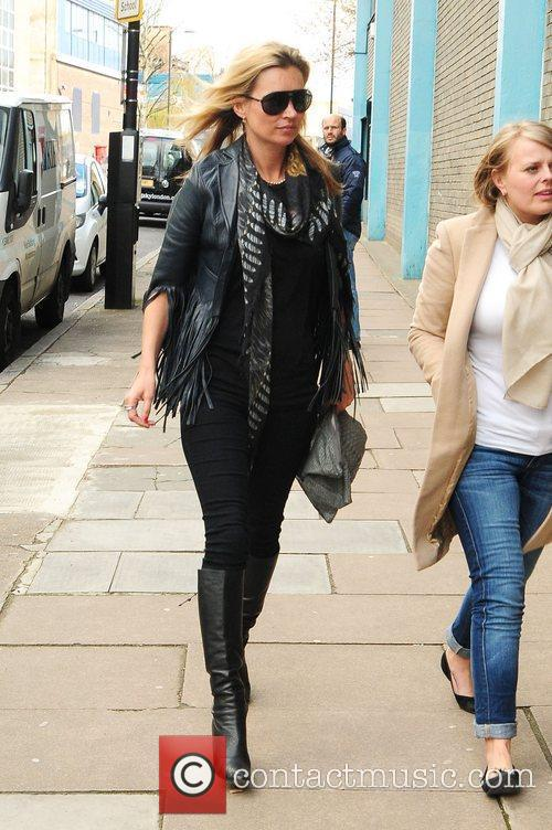 Kate Moss arrives for a photo shoot at...