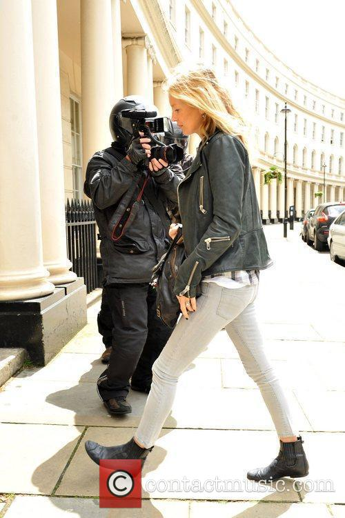 Kate Moss arriving at a London Medical Centre...