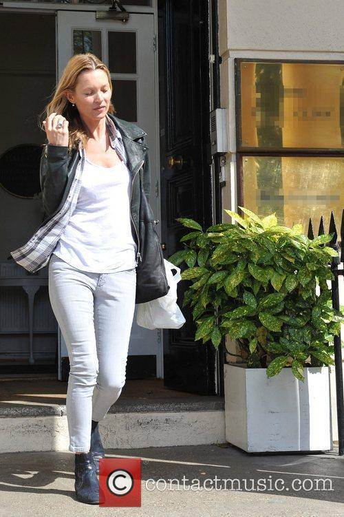 Kate Moss leaving a London Medical Centre London,...