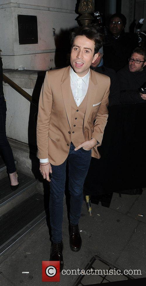 Radio 1 Dj, Nick Grimshaw at the after...