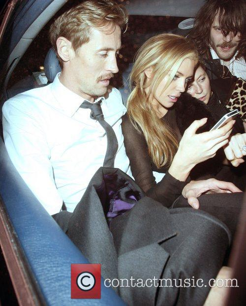 Abbey Clancy,  at the after party celebrating...