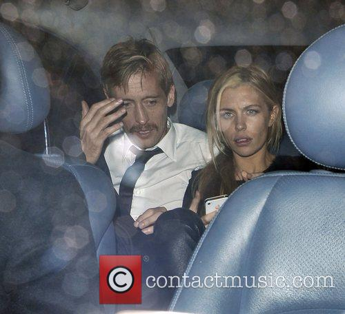 Abbey Clancy and Peter Crouch at the after...