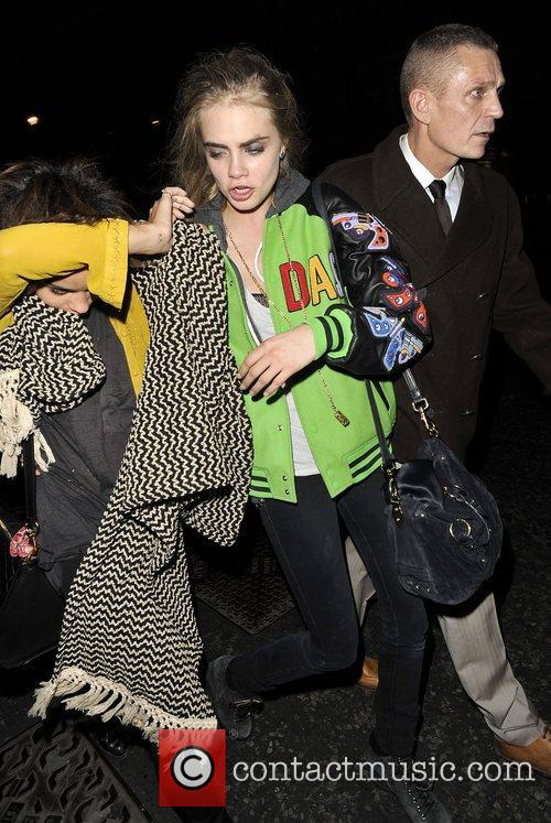 Cara Delevingne leaving Kate Moss book launch