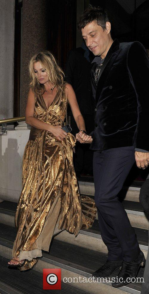 Kate Moss and Jamie Hince at the after...