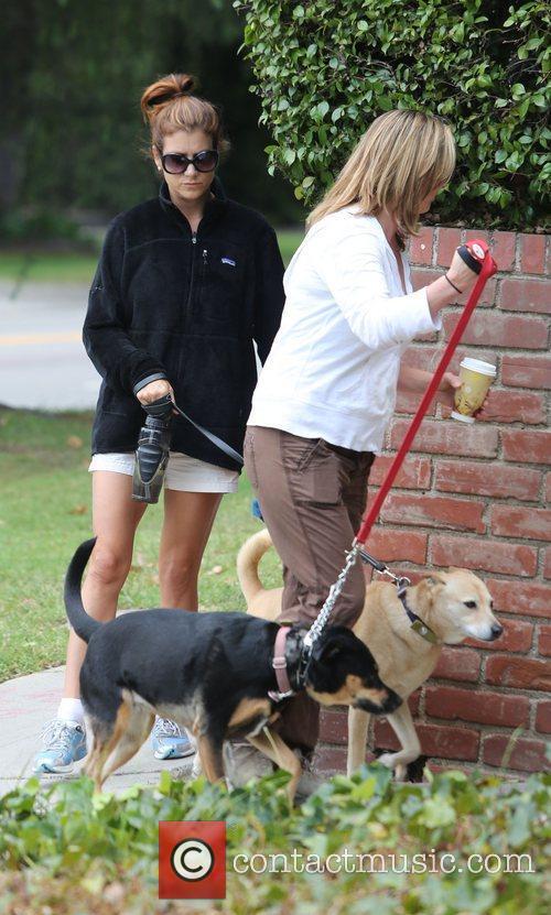 Out walking the dogs in Los Feliz.