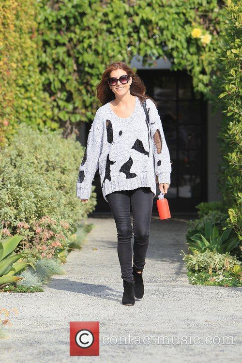 Kate Walsh leaving LeConte Salon in West Hollywood...