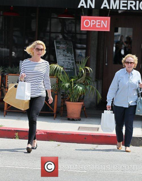 Actress Katherine Heigl seen with mum Nancy Heigl...