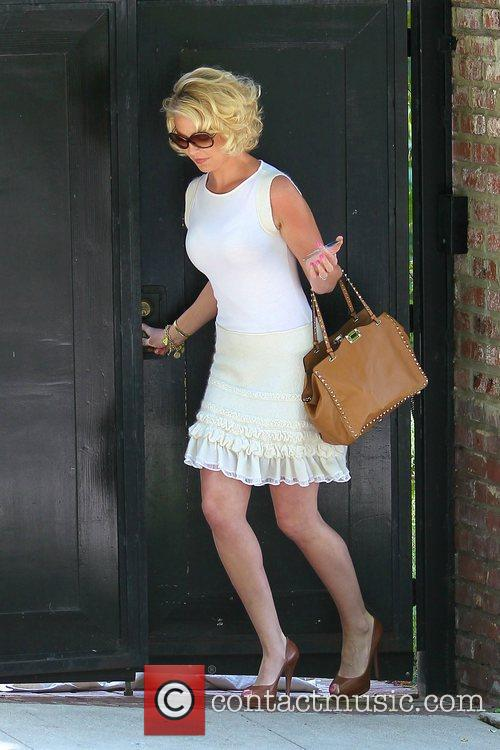 Katherine Heigl is seen heading to a meeting...