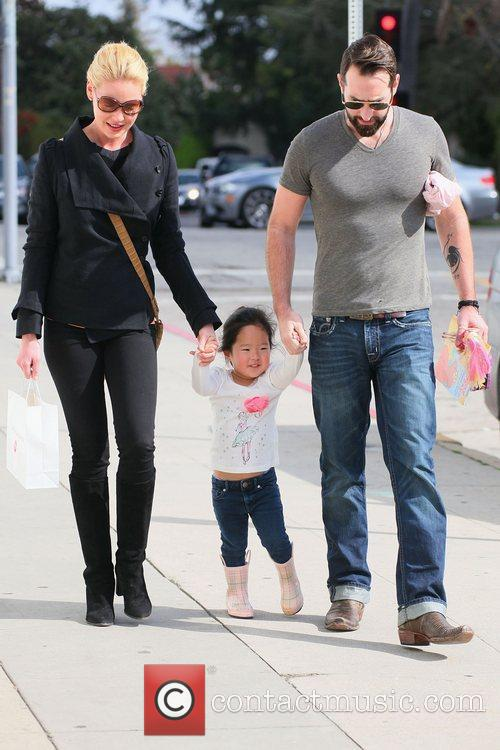 Katherine Heigl and her husband Josh Kelley with...