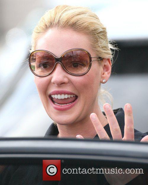 Katherine Heigl seen leaving the bungalow restaurant in...