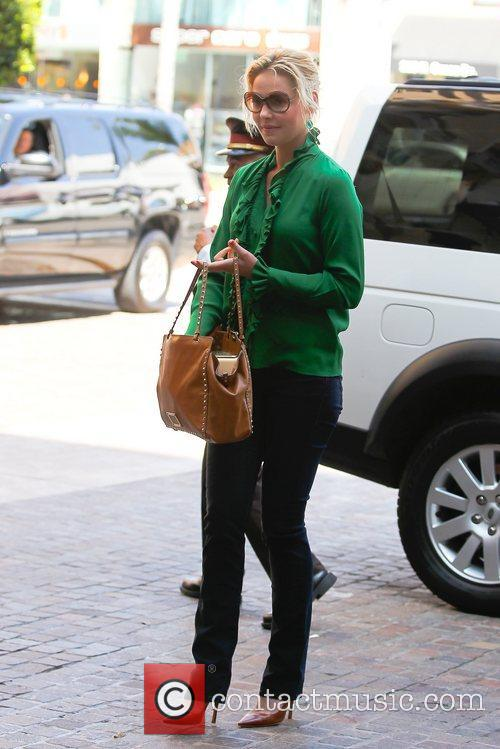 Leaving a meeting in Beverly Hills