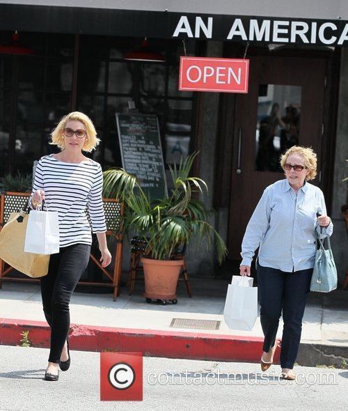 Katherine Heigl and her mother Nancy Heigl leave...