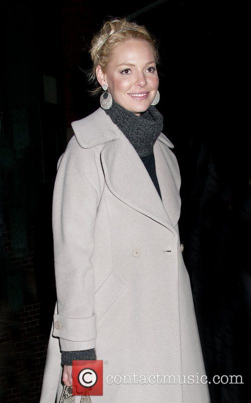 Katherine Heigl and her mother seen departing their...