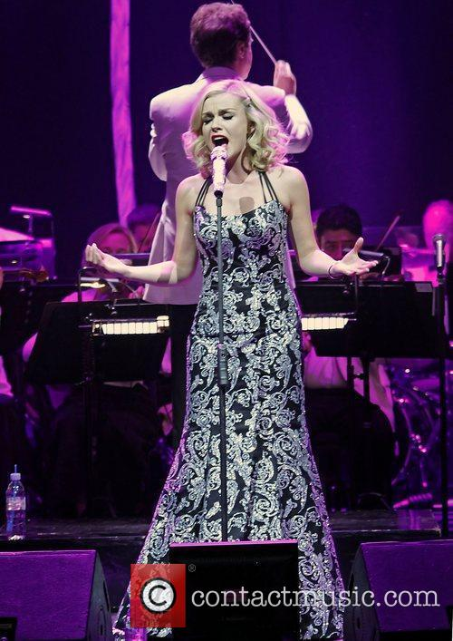 Katherine Jenkins performing at the Liverpool Philharmonic Hall.