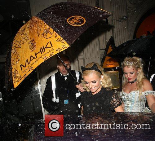 Katherine Jenkins  leaving Mahiki night club with...