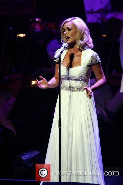 Katherine Jenkins performing at the New Theatre Oxford...