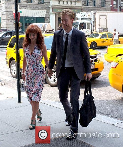 Kathy Griffin and boyfriend Randy Bick outside their...