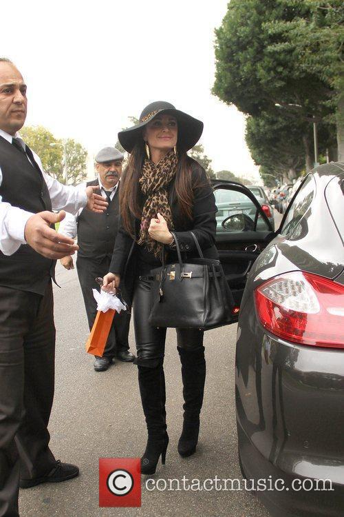 Kyle Richards  Celebrities arrive at the Birthday...