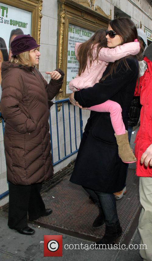 Katie Holmes, Suri Cruise, Music Box, New York City, Broadway and Dead Accounts 1