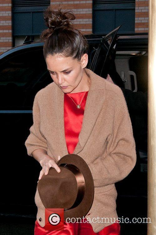 Katie Holmes arriving at home in Manhattan New...