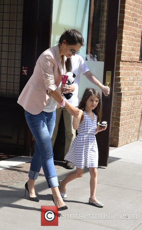 Katie Holmes and daughter Suri Cruise seen out...