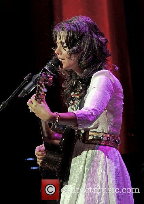 Katie Melua performing at Manchester Bridgewater Hall.