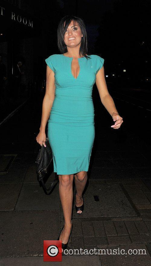 Nicola Goodger leaving the launch party for website...