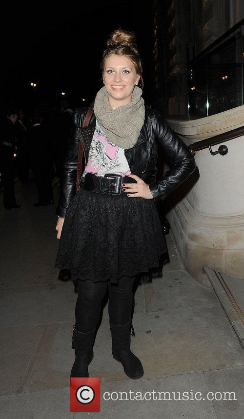 X Factor contestant Ella Henderson arriving back at...