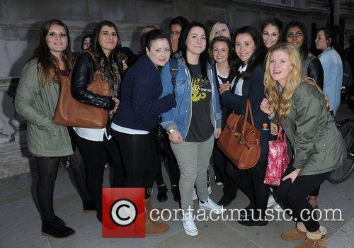X Factor contestant Lucy Spraggan arriving back at...