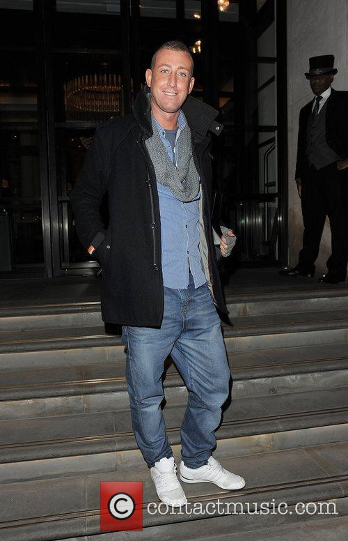 X Factor contestant Chris Maloney arriving back at...