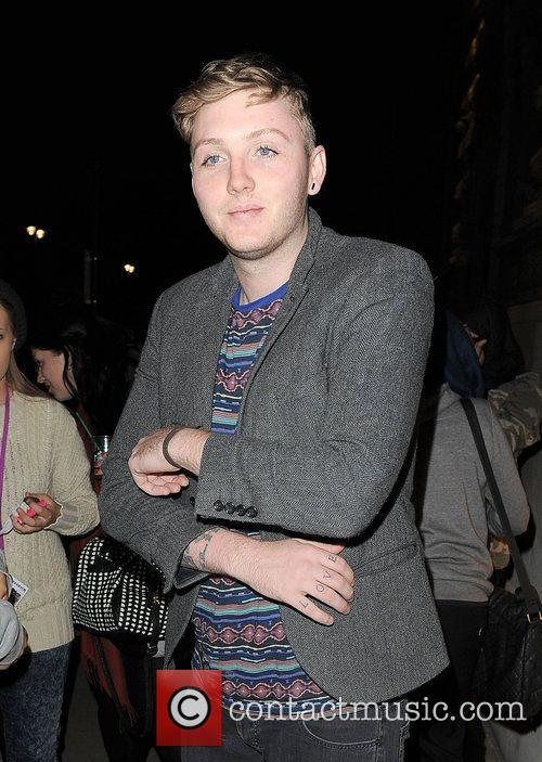 X Factor contestant James Arthur arriving back at...