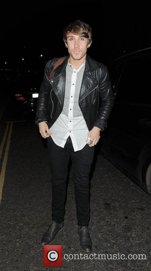 X Factor contestant Kye Sones arriving back at...