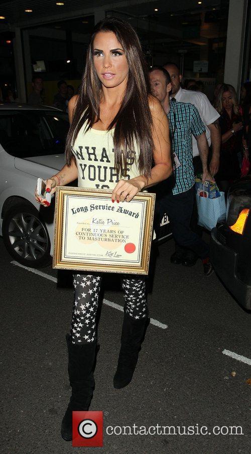 Katie Price, Riverside Studios, Celebrity Juice. Katie and Long Service Award 11