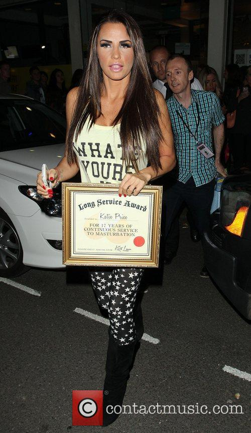Katie Price, Riverside Studios, Celebrity Juice. Katie and Long Service Award 9