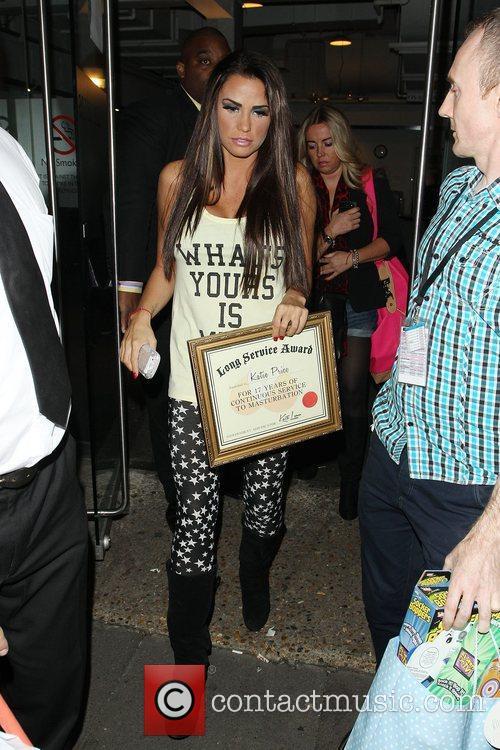 Katie Price, Riverside Studios, Celebrity Juice. Katie and Long Service Award 5