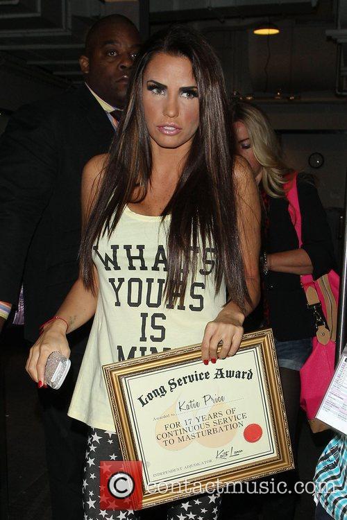 Katie Price, Riverside Studios, Celebrity Juice. Katie and Long Service Award 10