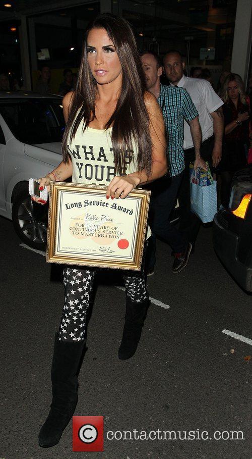 Katie Price, Riverside Studios, Celebrity Juice. Katie and Long Service Award 8