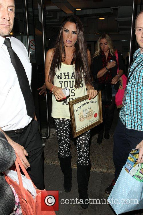 Katie Price leaving Riverside Studios after filming Celebrity...