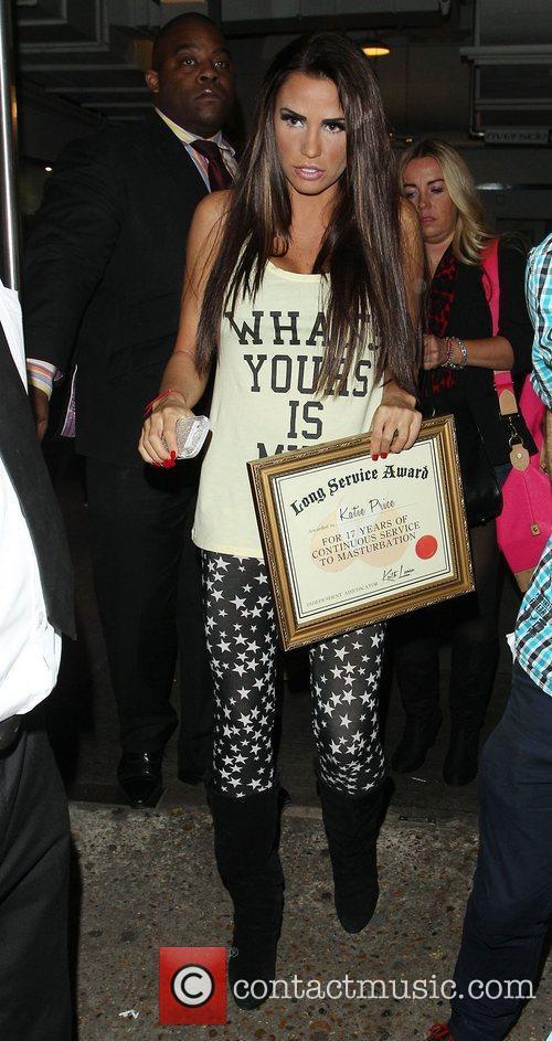 Katie Price, Riverside Studios, Celebrity Juice. Katie and Long Service Award 6