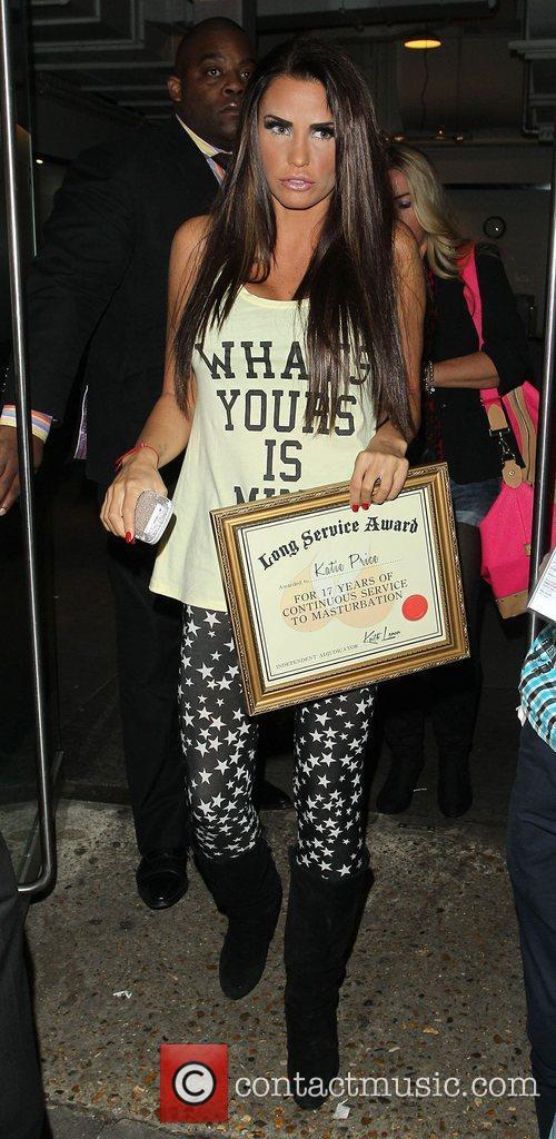 Katie Price, Riverside Studios, Celebrity Juice. Katie and Long Service Award 12