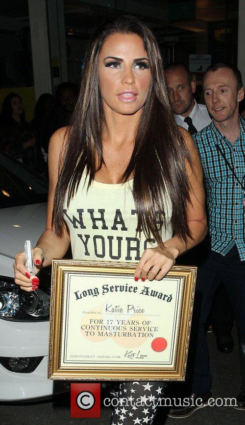 Katie Price, Riverside Studios, Celebrity Juice. Katie and Long Service Award 4