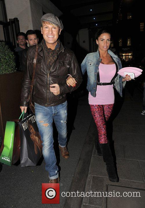 Katie Price leaving the May Fair hotel with...