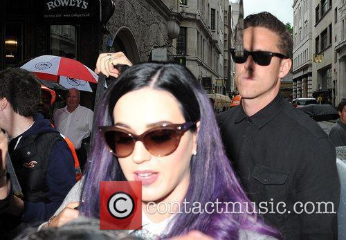 Katy Perry and boyfriend Robert Ackroyd seen arriving...