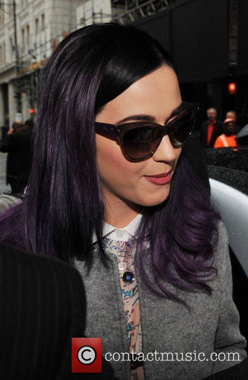 Katy Perry seen arriving at a studio in...