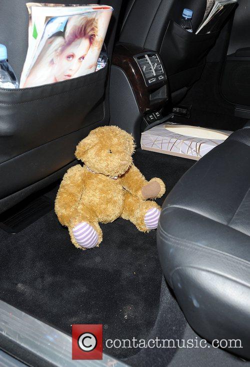 A teddy in Katy Perry's car London, England