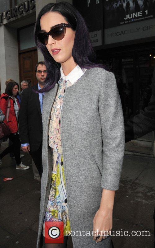 Katy Perry leaving a studio in central London...