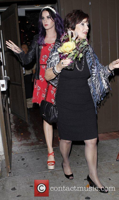 Katy Perry and her mother Mary leave Dominick's...