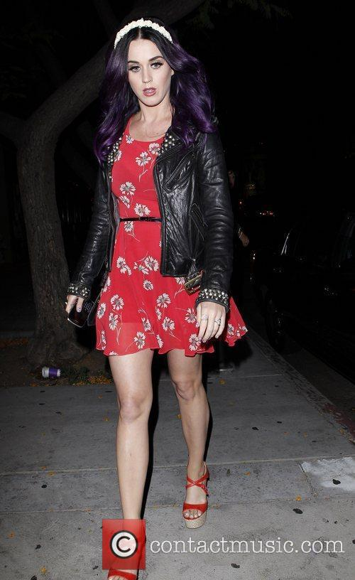 Katy Perry leaves Dominick's restaurant in West Hollywood...